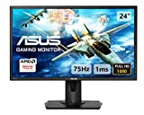 ASUS VG245H 24'' FHD (1920 x 1080) Gaming Monitor per PC, 1 ms, 75 Hz, HDMI, D-Sub, Super Narrow Bezel, FreeSync via HDMI, Filtro Luce Blu, Flicker Free
