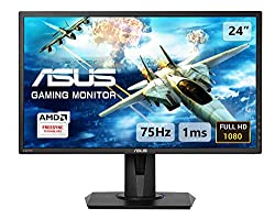24 inch full HD gaming monitor with an ultra-fast 1 ms response time and GameFast Input technology for smooth gameplay Dual HDMI ports allow you to connect your game console and another HDMI device at the same time Features AMD FreeSync technology to...