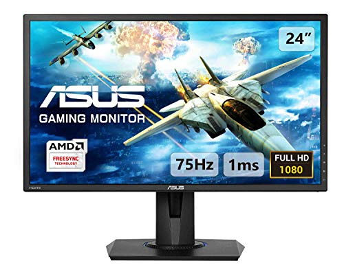 ASUS VG245H 24 Inch FHD (1920 x 1080) Gaming Monitor, 1 ms, Up to 75 Hz, HDMI, D-Sub, Super Narrow Bezel, FreeSync via HDMI, Low Blue Light, Flicker Free
