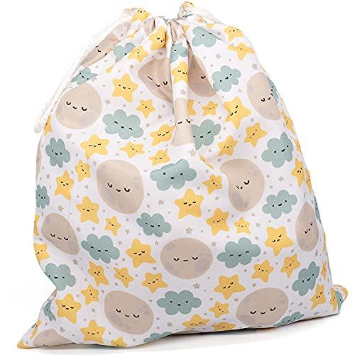 Bolsa merienda reutilizable con estampado infantil lavable y plegable. Bolsa de tela...