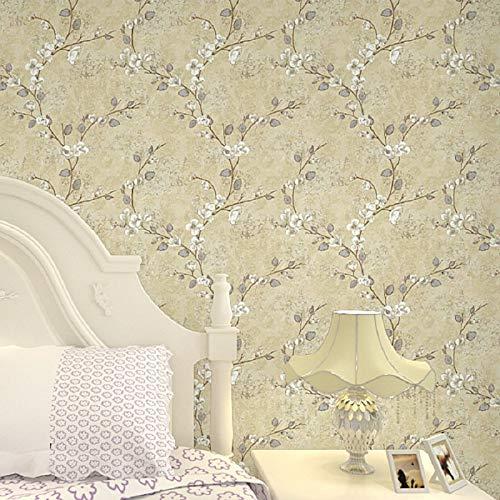 Rotolo della carta da parati impressa modello 3D minimalista non tessuto  moderno della pianta per le pareti della camera da letto del salone Bianco  ...