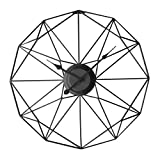 MRKE Reloj Pared Grande, Metal 50CM XXXL Reloj Pared Silencioso, Vintage Retro Reloj de Pared para Salon/Cocina/Oficina/Dormitorio (Negro)