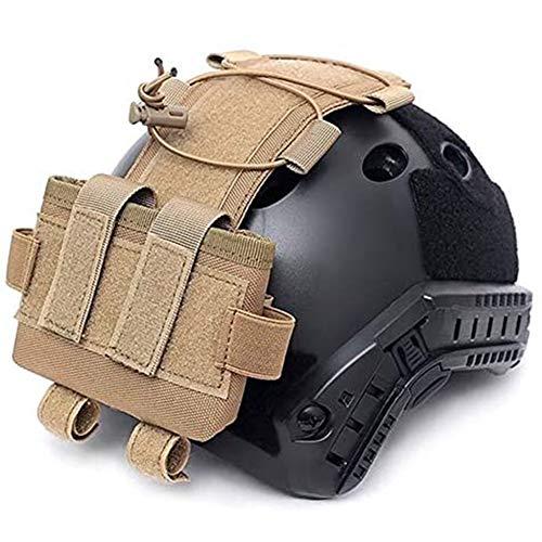WLXW Tactical MK2 Casque Batterie Cas Casque Accessoire Sac Multifonction Balance Poids Sac pour Fast Casque Militaire Poche Batterie,Tan