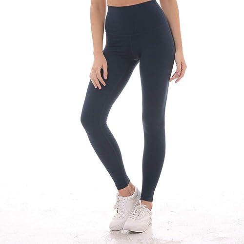 GSYJK Femmes Taille Haute Leggings De Yoga Pantalon De Yoga Squat Proof avec Pantalon De Poche Cachée Collants Sportifs évacuation De L'Humidité Fitness Pantalon