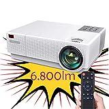 Proyector 4K Compatible, Luximagen FUHD230 Full HD 1080p Nativo 6.800 lúmenes , Dolby AC3 Corrección Digital 4D, hasta...