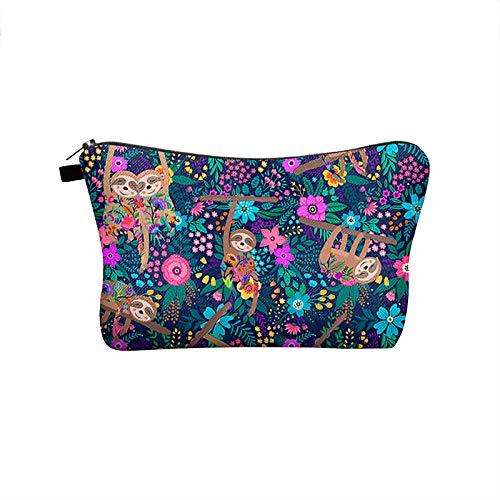Pequeño bolso cosmético, bolsa impermeable portátil bolsa de aseo viaje impreso bolso organizador para niños adolescentes escuela regalos lindo dibujos animados