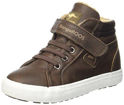 KangaROOS KaVu III Unisex Baby Sneaker, Braun (Dark Brown/Sand 343), 25 EU