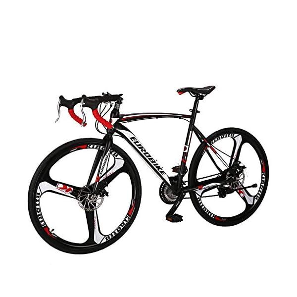 Road Bikes Eurobike Road Bike 700C wheels 21 Speed Disc Brake Mens Bicycle 54cm Frame