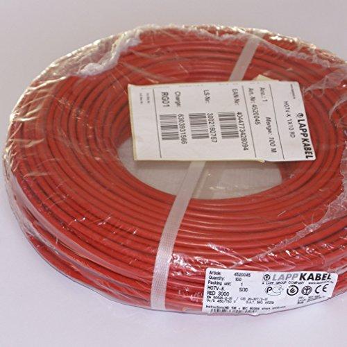 Lapp flexible Verdrahtungsleitung H07V-K RD 1 x 10 mm² rot *Meterware*