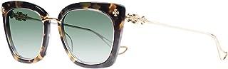 Chrome Hearts - Betty Lou II - Sunglasses (Hollywood Tortoise/Gold Plated, Dark Green G15 Gradient)