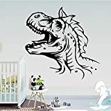 wZUN Pegatina de Dinosaurio de Dibujos Animados, Papel Tapiz de Vinilo, decoración del hogar, Sala de Estar, Dormitorio, movible 28X28cm