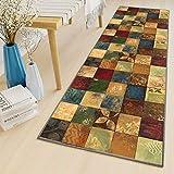 LYYK alfombras rectangulares 60x120cm largas y Modernas Lavables Antideslizante alfombras de habitacion pequeñas para Sala de Estar Pasillo Cocina balcón, Color7