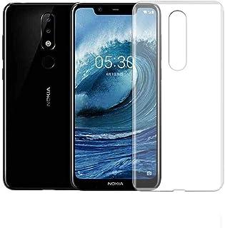 """Nokia 5.1 Plus (Nokia X5) 5.86"""" TPU Silicone Soft Thin Back Case Cover For Nokia 5.1 Plus/Nokia X5 Clear Cover"""