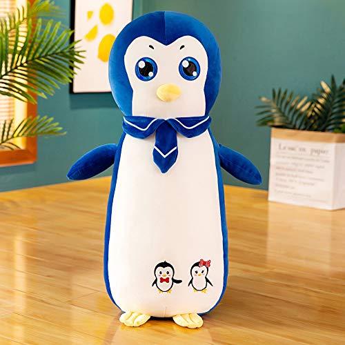 tuyuzhen Cartoon Penguin Doll Plush Toy Cushion Pillow 100 cm blue