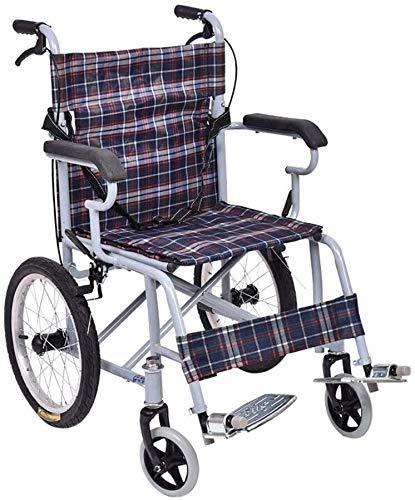 Decoración para el hogar Sillas de ruedas Silla de ruedas de acero Silla de ruedas autopropulsada para niños Ligero plegable con cinturón de seguridad 360 & deg;Ancho del asiento de la rueda delan
