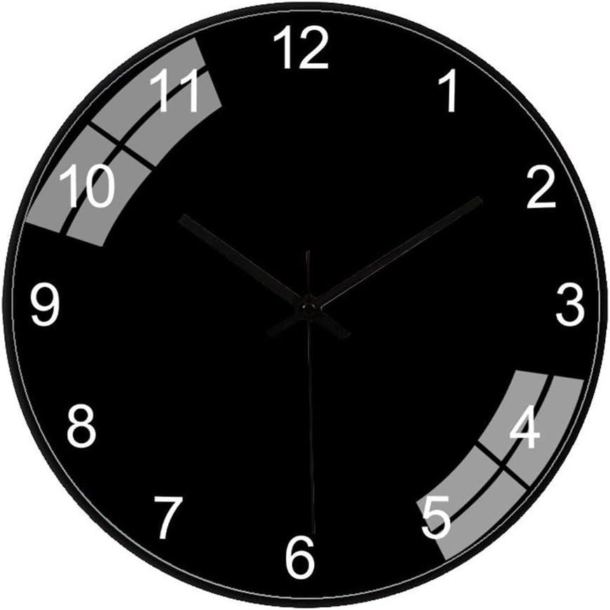 ZCYXQR Reloj de Pared Decoración Personalizada Silencioso Sin tictac Sala de Estar Dormitorio Nórdico Moderno Color sólido Diseño Simple Redondo (Decoración del hogar)