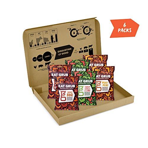 Knusprige Grillen Geröstete Snacks by Eat Grub (Gemischter Geschmack 6er Pack) - essbare insekten