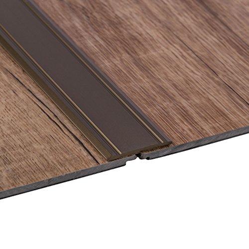 Gedotec Alu Übergangsprofil SUPER-FLACH Übergangsschiene selbstklebend | 1000 x 30 mm | Bodenprofil Aluminium Bronze eloxiert | ungelochte Aluminium Abdeckleiste | 1 Stück - Türschwelle zum Kleben