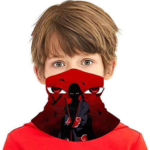 Nerf Uchiha Itachi Kids Neck Gaiters Kids Summer Face Cover for Boys Bandana Face Scarves Headband