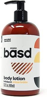 Basd, Organic Body Lotion for Dry Skin, Indulgent Crème Brulee, Moisturizing, Natural Skin Care, Vegan, Hypoallergenic, Aloe Vera, Shea Butter, Cocoa Butter, 15.2 Ounce Bottle