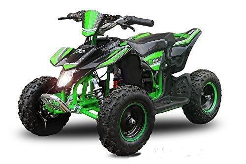 "Eco Mini Quad 1000W Madox Premium 6"" 48V ATV Bici Bolsillo Miniquad Quad de niño Vehiculo infantil - verde"