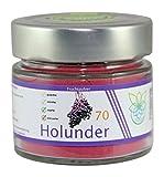 VITARAGNA Holunder Fruchtpulver 70 vegan, Qualitätsprodukt mit reinem Holunder-Fruchtextrakt,...