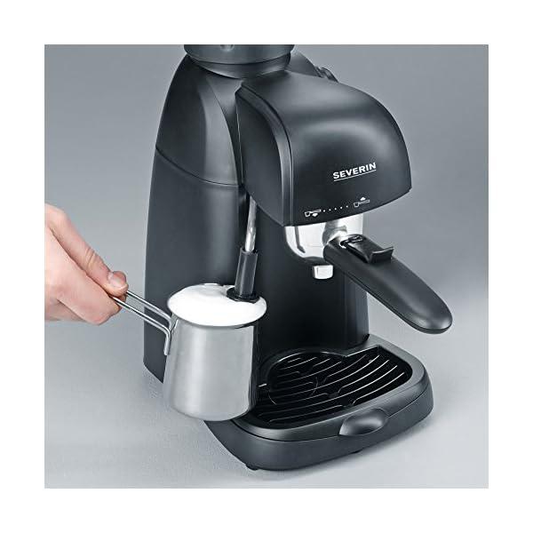 SEVERIN KA 5978 Cafetera Espresso, Incl. Jarra para Servir y Cuchara Dosificadora,