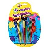 Artbox Plastic Paint Brush - Assorted Colour (Pack of 15)