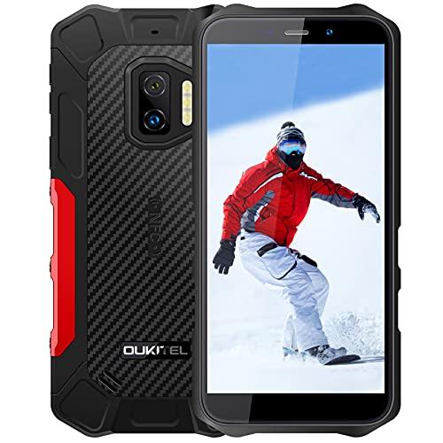 Android 11 Telefono Movil Resistente OUKITEL WP12 Pro, 4GB 64GB Dual SIM Rugged Smartphone Baratos, 5.5'' HD 13MP 8MP Cámara, Impermeable IP68 Robusto, Batería 4000 mAh con NFC Móviles Libres Rojo