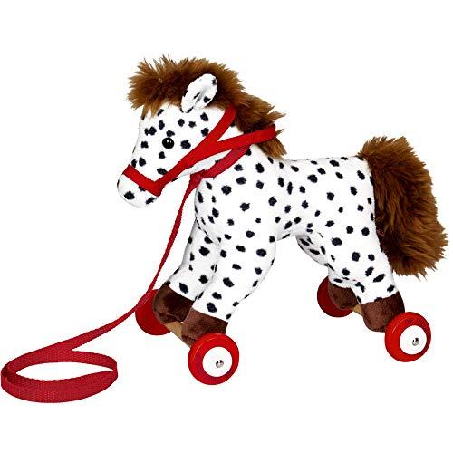 Die Spiegelburg 15126 Pony Anton auf Holzrollen Mein Kleiner Ponyhof