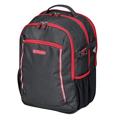 herlitz 50032785 basisschoolrugzak Ultimate leeg, zwart/rood, 1 stuk