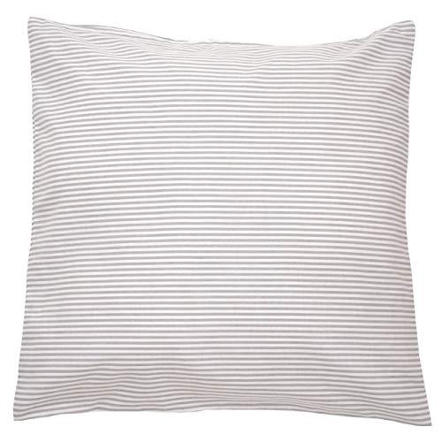 Sugarapple Kinderkissen Bezug 40x40 cm, Deko Kissen Hülle, 100% Baumwolle ÖkoTex Standard mit Reißverschluss, Streifen grau
