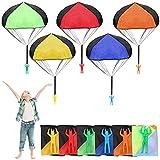 yumcute Paracaídas para NiñOs,Multicolor Paracaídas Juguete 6 pcs,Mano Lanzar Paracaídas para Juego Infantil,Paracaidista Juguete para NiñOs,Mini Paracaídas para Lanzar A Mano para Regalos para NiñOs