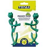 tenax legapiante decorativo a forma di rana, froggy twist, confezione da 2 pezzi, verde