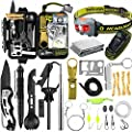 Survival Kit, Professional Emergency Survival Gear and Equipment Supplies for Outdoor Camping Adventures Hiking Great Gifts for Men Women Husband Boyfriend