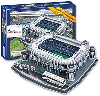 3D PUZZLE FOOTBALL STADIUM, DIY FOOTBALL FIELD PUZZLE GAMES & TOY FOR KIDS (Real Madrid Estadio Santiago Bernabeu)