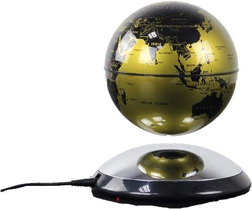 Globus Magnetische Kugel schwebende Weltkarte Kugel mit LED-Licht-Schwenker-Lehrmittel-Attraktion beleuchtet Für die Schule Kinder (Farbe   Gold)