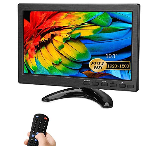 Security Monitors 10' LED Monitors HDMI/BNC/AV/VGA/USB Input 1920x1200 IPS Resolution Touch Buttons Video and Audio Displays CCTV Screen