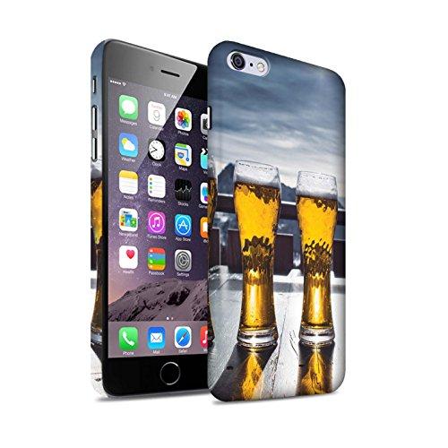 Stuff4 Matte Duro Snap On Custodia/Cover/Caso/Cassa del Telefono per Apple iPhone 6+/Plus 5.5 / Apres/Capanna di Sci/Birra/Sciare/Snowboard Disegno