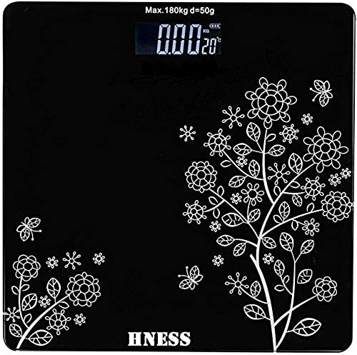 HNESS Electronic Thick Tempered Glass LCD Display Electronic Digital Personal Bathroom Health Body Health Personal Care Home Medical Supplies Equipment Weight Scale For Human Body