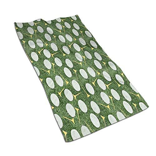 Pelotas de golf amarillas en el verde toalla de microfibra muy absorbente de secado rápido ligero natación deportes viaje a prueba de arena toallas de playa