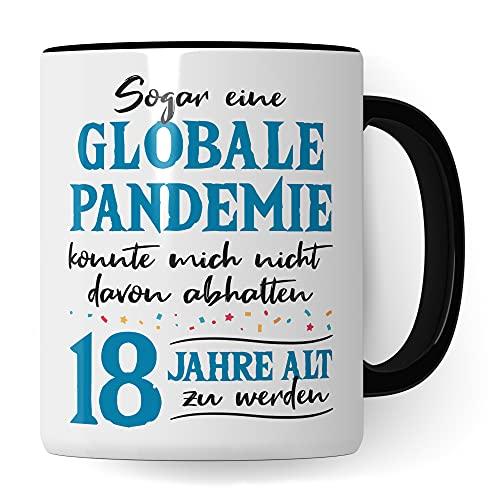 Tasse 18. Geburtstag Geschenk, 18 Jahre Geburtstag Junge Geschenkidee, Kaffeetasse 2003 Jahrgang Witz 2021 Geburtstagsgeschenk zum Achzehnter