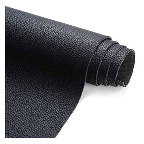 Kwaliteit Kunstleer Stof, Kunstleer Bekleding Stof, voor Craft Works, Bankstellen Reparatie, Decoratie (138Cm X 100Cm), Zwart,1.38x4m