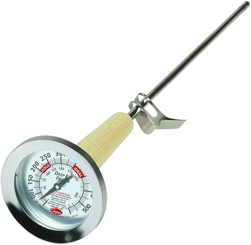 Cooper Atkins 3270 05 5 Stainless Steel Bi Metals Kettle Deep Fry Thermometer 50 To 550 Degrees F Temperature Range