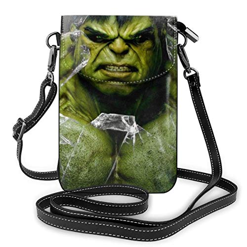 DJNGN Hulk Phone Purse Women's Crossbody Handbags Lightweight Bags Women Purse Leather Cellphone Holster Wallet Case Shoulder Ba