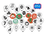 Christmas Cookie Stencils-22PCS Cookie Decoration Tools-Food Decorating Stencils for Cookies- Transparent Cupcake Cookie Coffee Art Template Decorating Stencils for Chritsmas