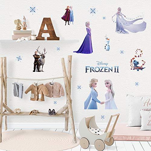 JXHJQY Frozen 2 pegatinas de pared Elsa Anna para sala de estar, dormitorio, pegatinas decorativas autoadhesivas de dibujos animados, 40 x 60 cm (AY00011)