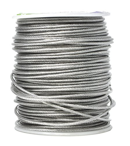 Mandala Crafts Heavy Duty Picture Hanging Wire from Coated Stainless Steel for Pictures, Mirrors, Frames, Art; 1.5mm, 164 FT 110 LB