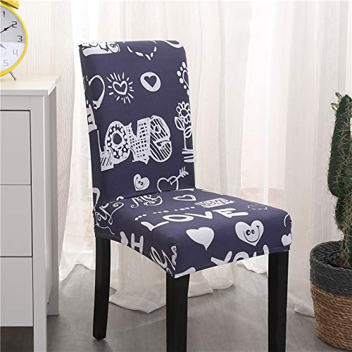 T-CYYT 2 Piezas Anti-fouling Household Chair Cover Hotel Chair Package Chair Cover Piece Elastic Office Computer, Kana Chair Set