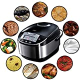 Russell Hobbs Multicooker 5,0l (digitales Display + Timer), 11 Kochprogramme (Schongarer, Dampfgarer, Slow Cooker, Reiskocher, Joghurtbereiter etc.), Anti-Kondensations-Deckel, Cook@Home...